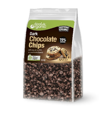 Absolute Organic Vegan Dark Chocolate Chips 70% Cocoa 350g