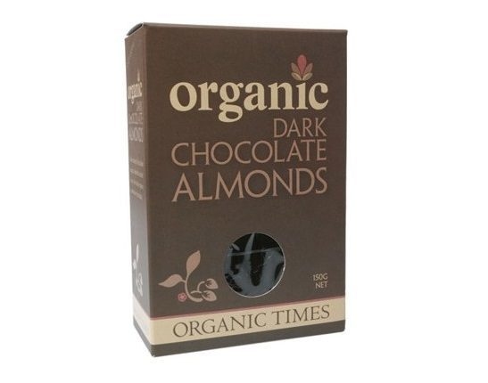 Organic Times Dark Chocolate & Almonds 150g