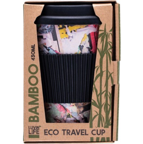 Luvin Life Bamboo Travel Cup 430ml - Art Design