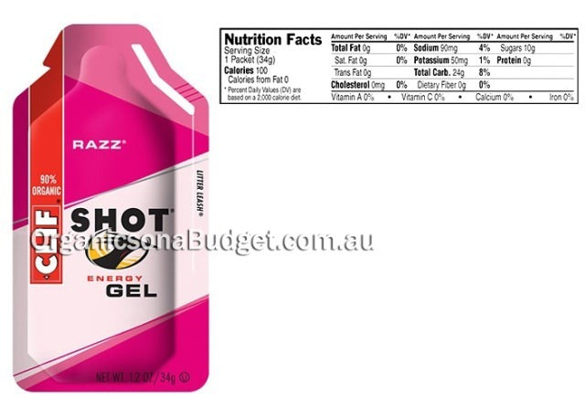 Clif Shot Energy Gel Razz 24x34g