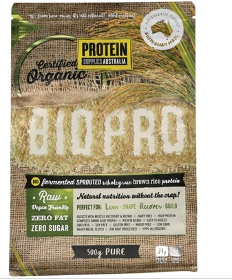 Protein Supplies Australia Bio Pro Sprouted Rice Protein Powder 500g