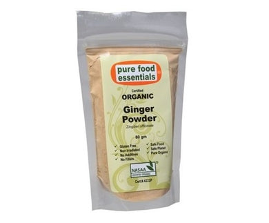 Pure Foods Essentials Organic Ginger Powder 80g