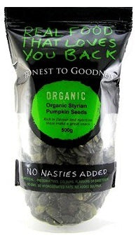 Honest To Goodness Organic Pumpkin Seeds Styrian Black 500g