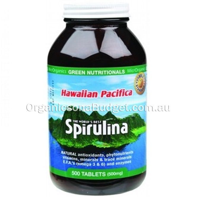 Green Nutritionals Spirulina (500mg) 500 Tabs