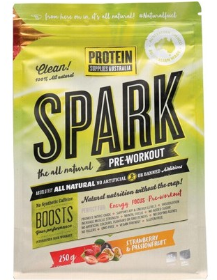 Protein Supplies Australia Spark Pre-workout Strawberry & Passionfruit 250g