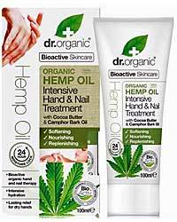 Dr Organic Hemp Hand and Nail Oil 100ml