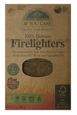 If You Care 100% Biomass Firelighters 28 Cubes