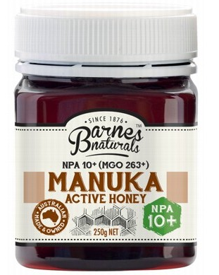 BARNES NATURALS Manuka Active Honey NPA10+ (MGO 263+) - 250g
