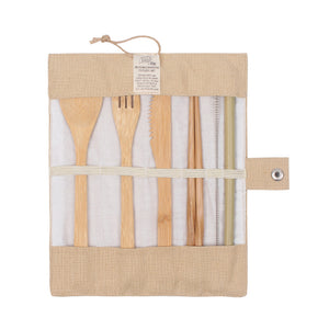 White Magic Eco Basics Bamboo Cutlery Set 6 x 22cm