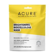 Acure Brightening Biocellulose Mask - 20ml