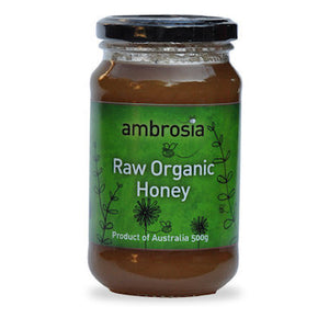 Ambrosia Raw Organic Honey 500g