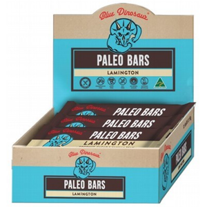 Blue Dinosaur Lamington Bar (Paleo Bar) 12x45g