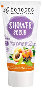 Benecos Shower Scrub - Apricot & Elderflower 200ml