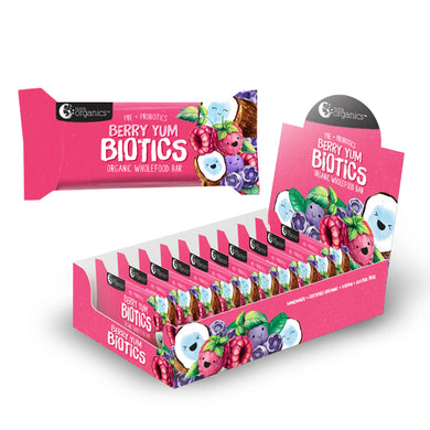 Nutra Organics Berry Yum Biotics Bar 16x30g