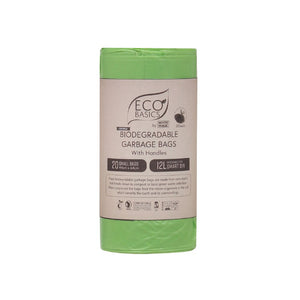 White Magic Eco Basics Bio Garbage Bags Small 44cmx64cm 12L