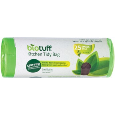 Biotuff Kitchen Tidy Bag Small 8L Bags x25