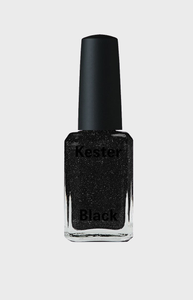 Kester Black Nail Polish - Black Diamonds 15ml