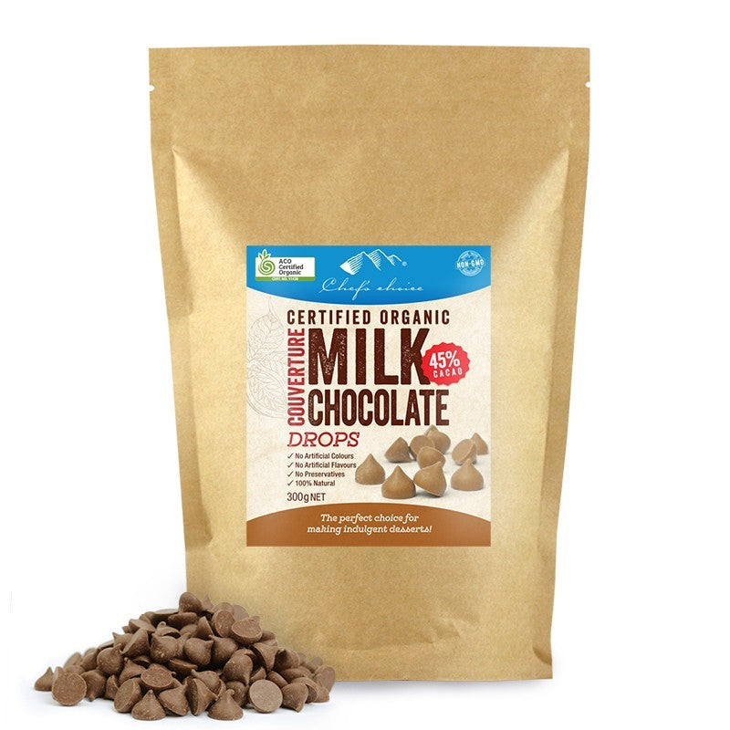 Chef's Choice Organic Milk Chocolate Drops BULK 1kg