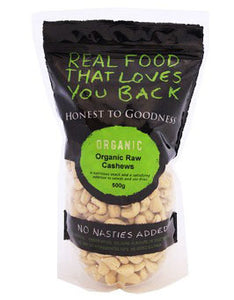 Honest To Goodness Organic Cashews Raw 500g