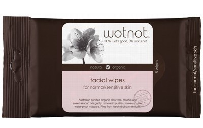 Wotnot Facial Wipes For Sensitive Skin x 5