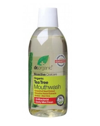 Dr Organic Tea Tree Mouthwash 500ml