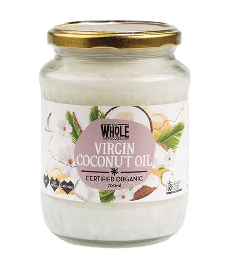 THE WHOLE FOODIES Virgin Coconut Oil 100% Pure 700ml