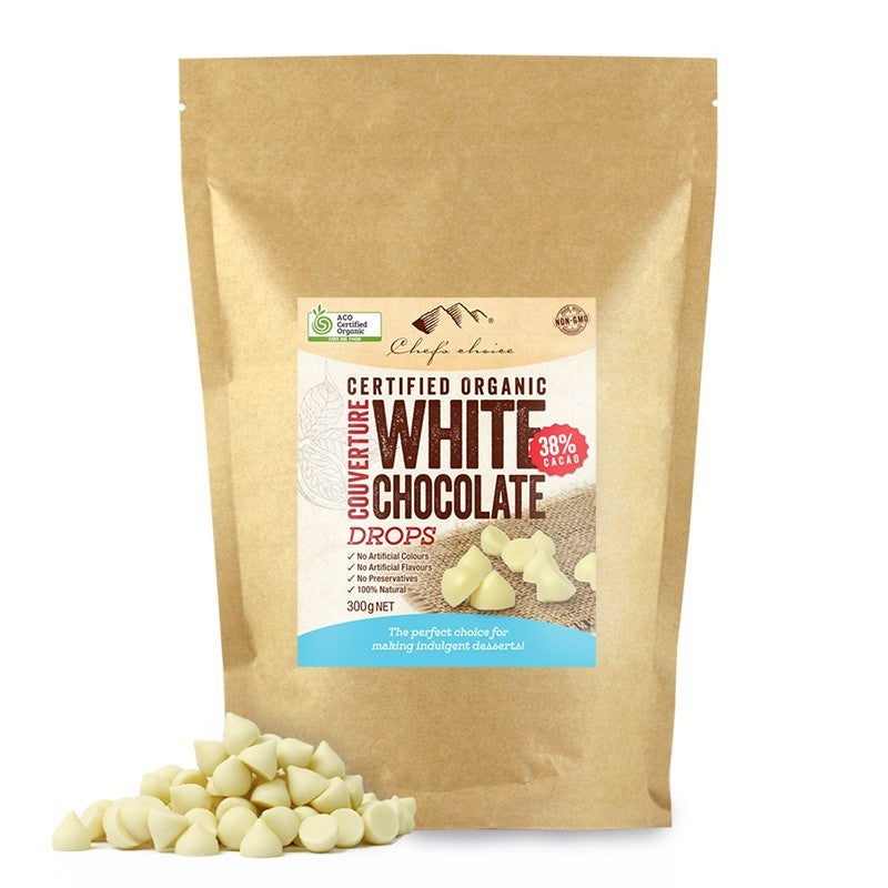 Chef's Choice Organic White Chocolate Drops BULK 1kg
