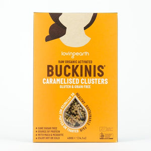 Loving Earth Raw Organic Buckinis Caramelised Clusters 400g