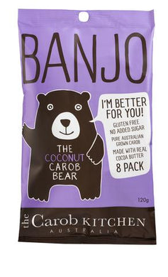 The Carob Kitchen Banjo Carob Coconut Bear 8 pack 120g