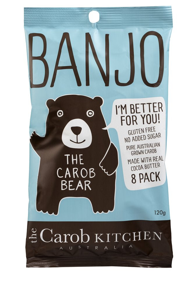 The Carob Kitchen Banjo Carob Bear 8 pack 120g