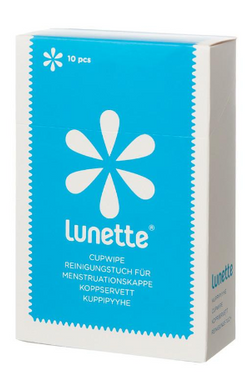Lunette Cupwipe Disinfecting Wipes (10 Wipes)