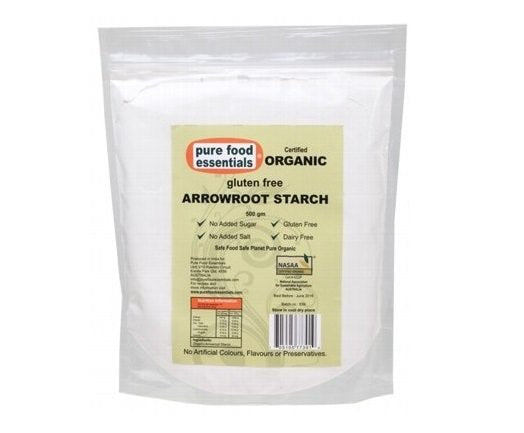 Pure Food Essentials Arrowroot Starch Powder 500g