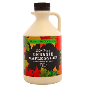 Honest To Goodness Organic Maple Syrup (Grade A) 1L