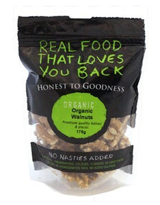 Honest To Goodness Organic Walnut Kernels Combo Halves/Pieces 175g