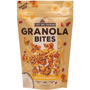 East Bali Cashews - Granola Bites Coconut Banana 125g