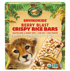 Nature`s Path Envirokidz Organic Berry Blast Crispy Rice Bars 180g