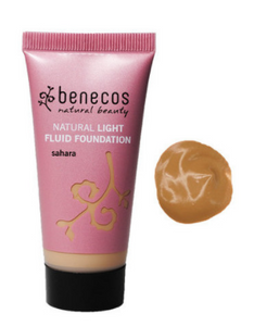 Benecos Natural Light Fluid Foundation - Sahara (30ml)
