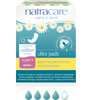 Natracare Super Plus Ultra Pads 12 pack