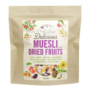 Chef's Choice Breakfast Muesli + Dried Fruits 700g