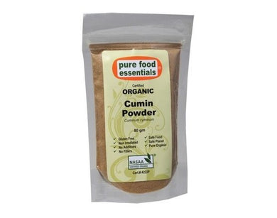 Pure Foods Essentials Organic Cumin Powder 80g