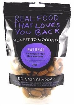 Honest To Goodness Australian Almonds Raw (Insecticide Free) 200g