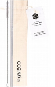 Ever Eco On-The-Go Straight Stainless Steel Straw Kit
