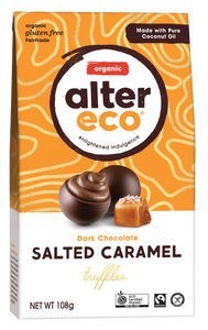 Alter Eco Organic Salted Caramel Truffles - Dark Chocolate 108g