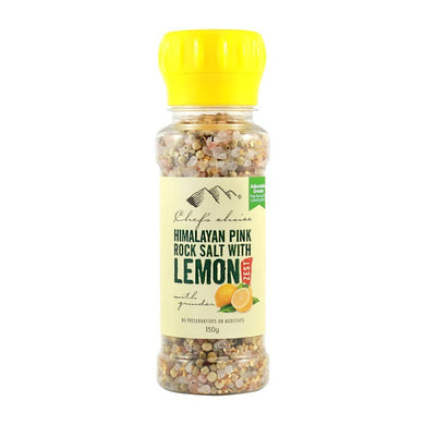 Chef's Choice Himalayan Salt + Lemon Zest Grinder 150g