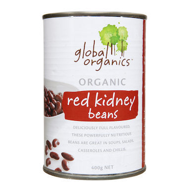 Global Organics Red Kidney Beans (BPA Free Can) 400g