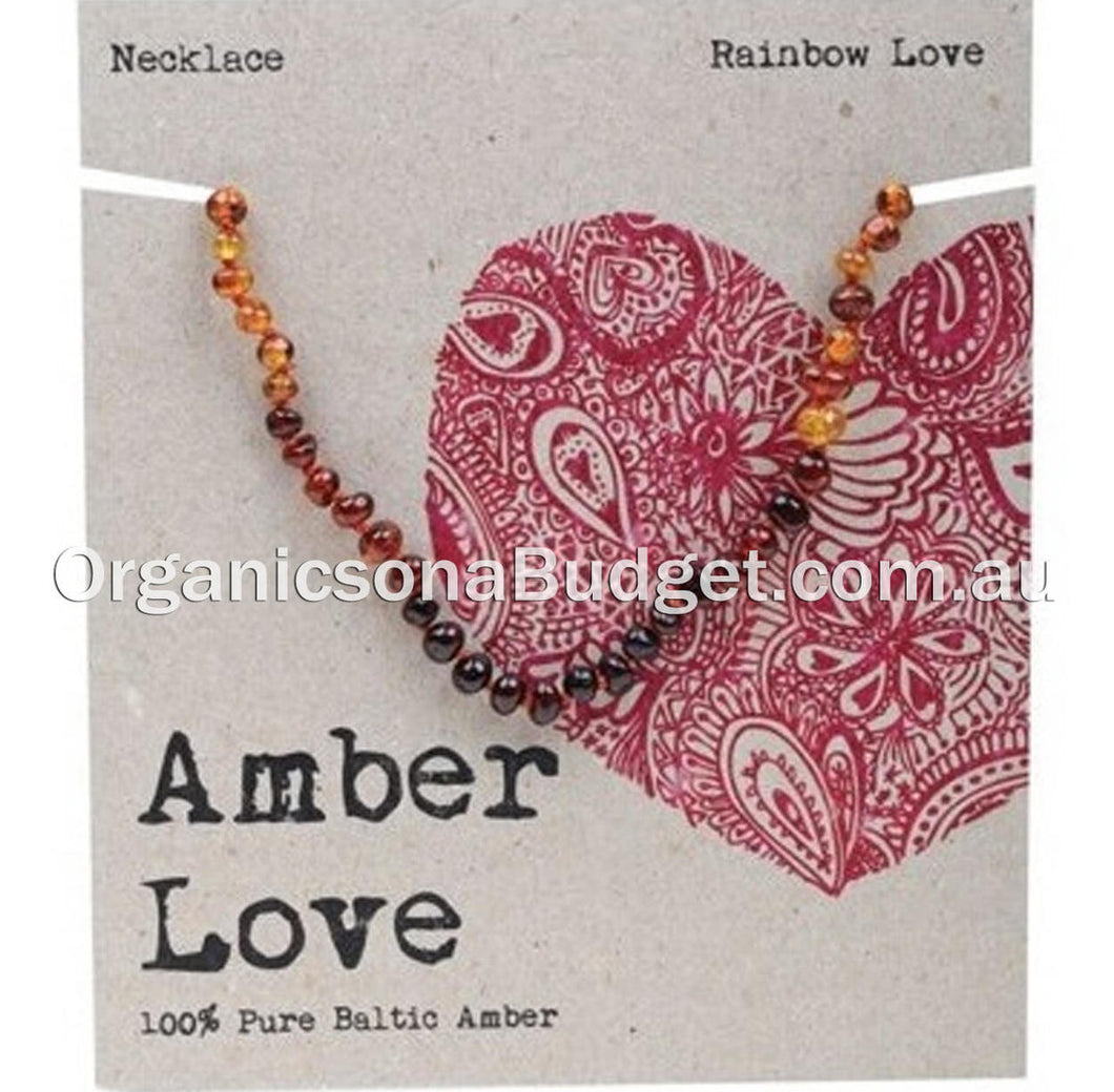 Amber Love Rainbow Amber Necklace 33cm (FREE SHIPPING)