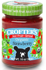 Crofters Just Fruit Spread Organic  Strawberry -283g