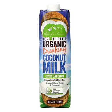 Chef's Choice Organic Coconut Milk with Marine Plant Based Calcium 1L