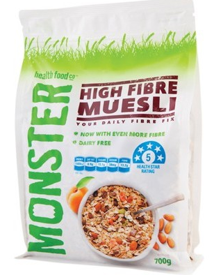 Monster Health Food Co. High Fibre Muesli 700g