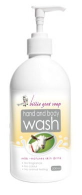 Billie Goat Soap Hand & Body Wash Goat's Milk 500ml